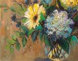 Glass Floral Art Print
