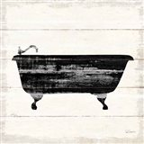 Shiplap Bath I Art Print