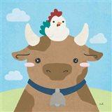 Barn Buddies I Art Print