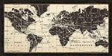 Old World Map Parchment Art Print