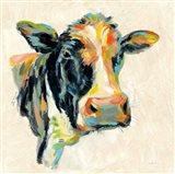 Expressionistic Cow I Art Print