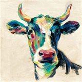 Expressionistic Cow II Art Print