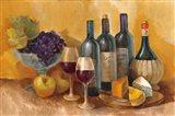 Wine and Fruit I v2 Art Print