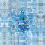 Abstract Squares Blue Art Print