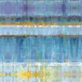Abstract Stripes Blue Art Print