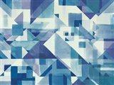 Try Angles I Blue Art Print
