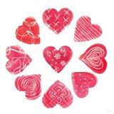 Hearts and More Hearts II Art Print