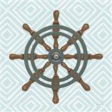 A Day at Sea IV Aqua Art Print
