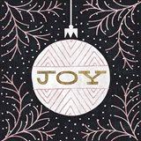Jolly Holiday Ornaments Joy Metallic Art Print