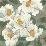 White Flowers I Dark Art Print