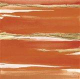 Gilded Mandarin I Burnt Orange Art Print