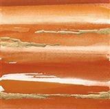 Gilded Mandarin III Burnt Orange Art Print