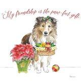 Holiday Paws III on White Art Print