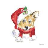 Holiday Paws VIII on White Art Print