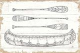 Lake Sketches I Art Print