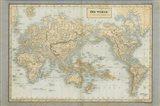 The World Map Neutral Art Print