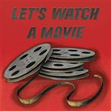 Lets Watch a Movie Red Art Print