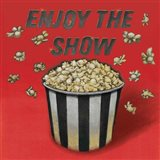 Enjoy the Show Red Art Print