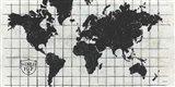 Black Gild World Map I Crest Art Print