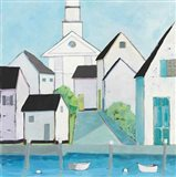Harbor Town III No Sign Light Art Print
