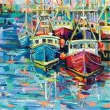 Stonington Docks Art Print