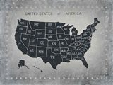 Riveting USA Map Art Print