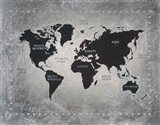 Riveting World Map Art Print