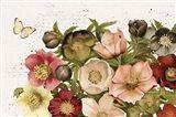 Vintage Petals I Art Print