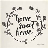 Happy to Bee Home I Words Neutral Art Print