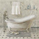 Victorian Bath III Neutral Art Print