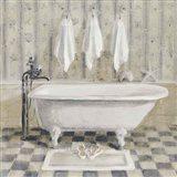 Victorian Bath IV White Tub Art Print