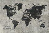 Grunge World Map Art Print