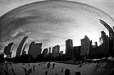 The Bean Chicago BW Art Print