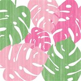 Monstera II Hot Pink Art Print
