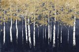 Shimmering Forest Indigo Art Print