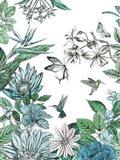 Butterflies and Flowers II Art Print