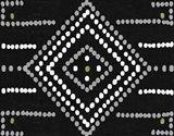 Daisy Dots Tile VI Black Art Print