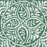 Amadora Dark Green Tile IV Art Print
