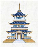 Flora Chinoiserie VIII Textured Art Print