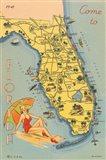 Florida Postcard VI Art Print