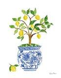 Lemon Chinoiserie I Art Print