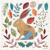 Whimsical Woodland V Art Print