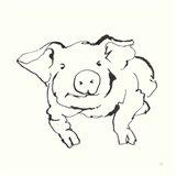 Line Pig II Art Print