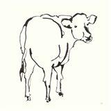 Line Cow Art Print