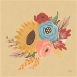 Harvest Garden Flowers I Art Print