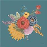 Harvest Garden Flowers IV Art Print