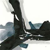 Black and Dark Teal III Art Print