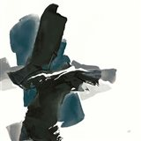 Black and Dark Teal IV Art Print