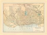 Map of Toronto Art Print