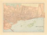 Map of Montreal Art Print